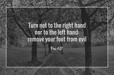 Word of wisdom - Remove your foot from evil