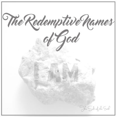 The redemptive Names of God