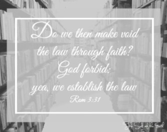 Establish the law through faith