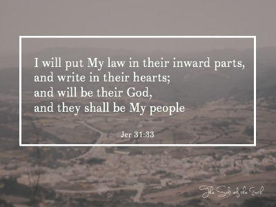 giving thanks, I will put My law in their inward parts, eighth day covenant, new man