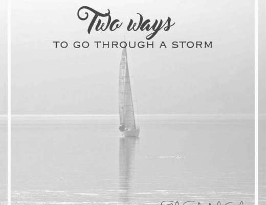 Two ways to go through a storm