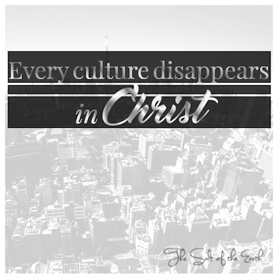 Every culture disappears in Christ