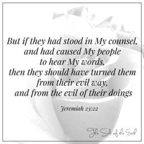 If they had stood in My counsel