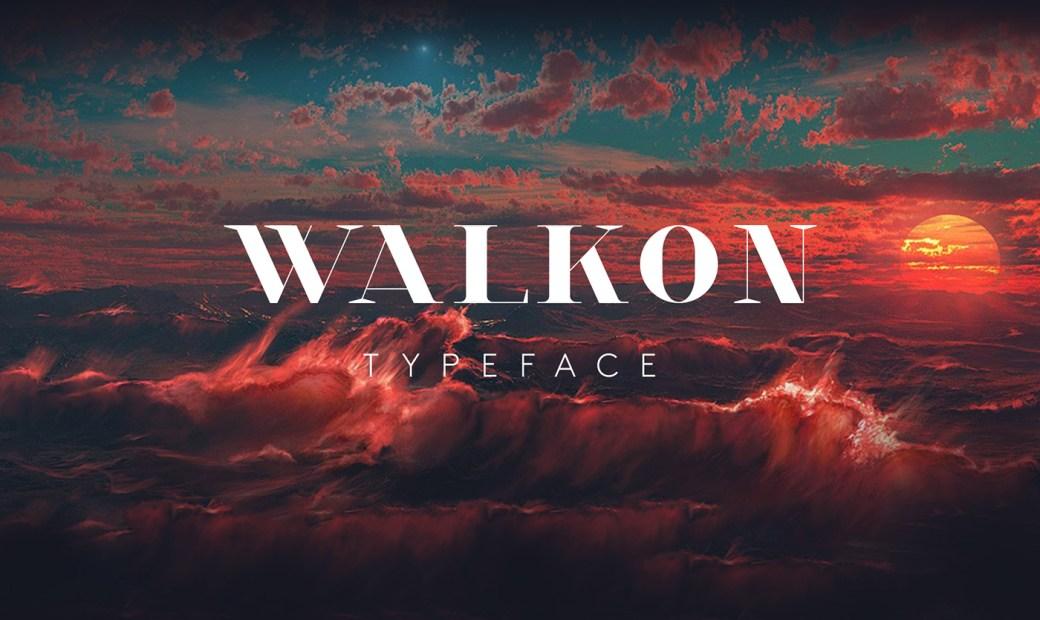 Walkon Typeface