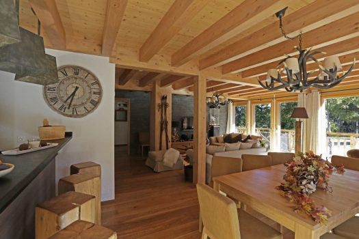 Living area on another chalet - Crans Luxury Lodges