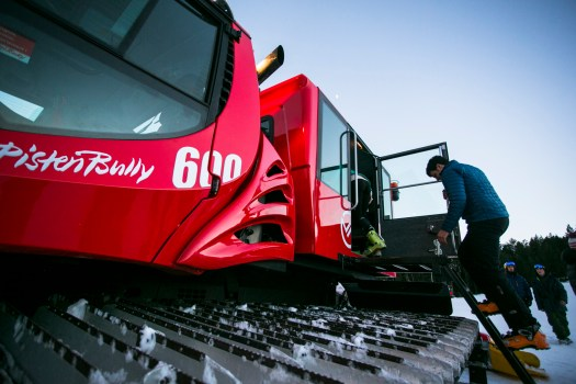 A snowcat can take you up at Vallnord Pal Arinsal