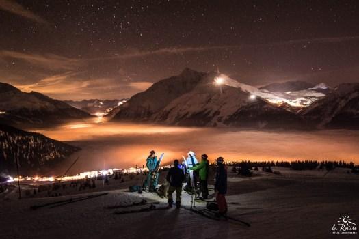 Night skiing at La Rosière
