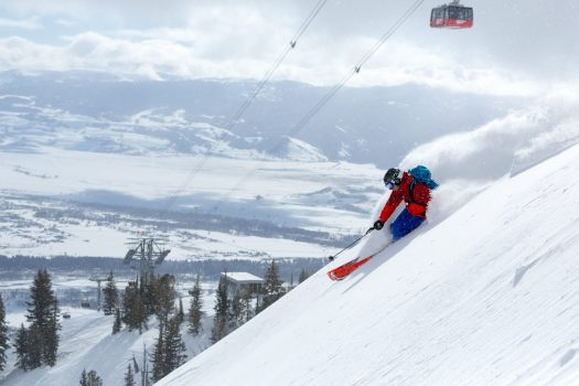 A skier in Jackson Hole's terrain. Photo- ES Forrest -Alterra Mountain Company