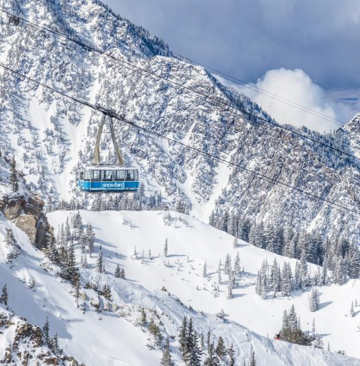The Snowbird tram, in another of the amazing ski areas that the IKON pass will offer- Photo by Matt Crawley - Alterra Mountain Company.