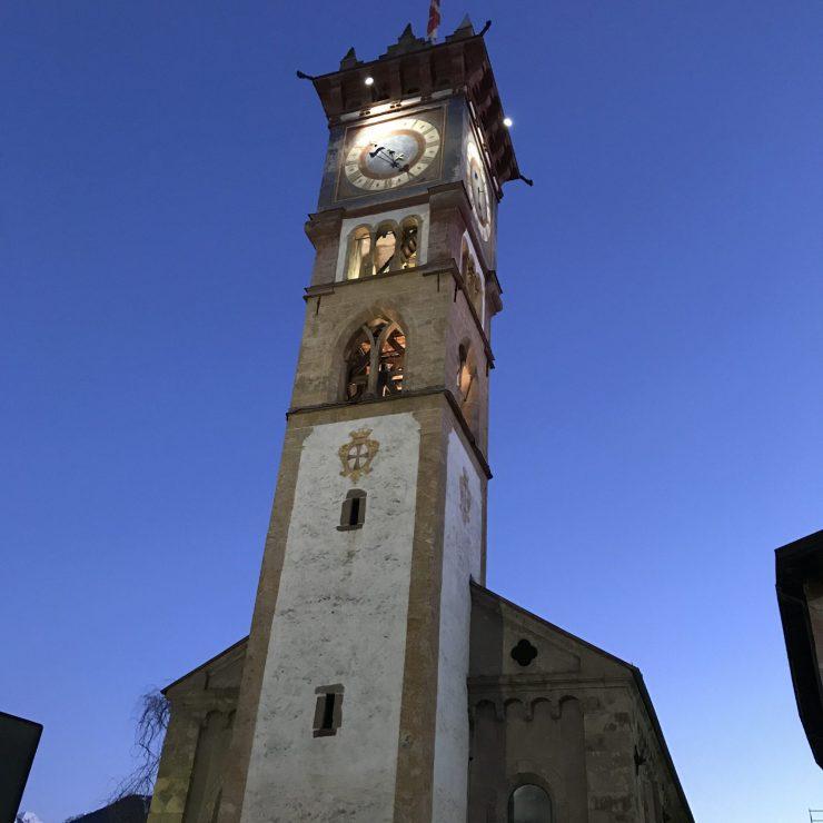 Downtown Cavalese, Tower of San Sebastiano- Photo by The-Ski-Guru