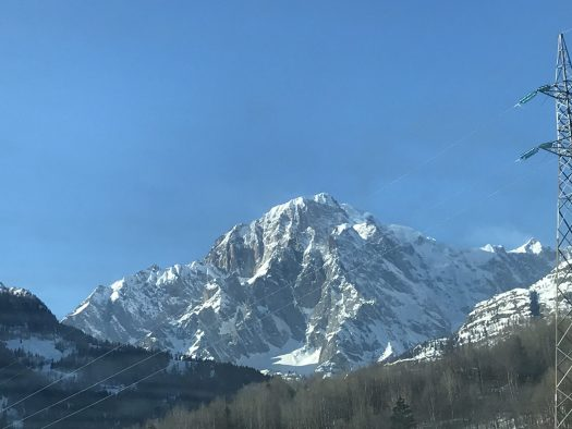 The mighty Monte Bianco - seen from Morgex, Aosta Valley. Photo: The-Ski-Guru. A Pilot may face punishment after landing on the Mont Blanc.