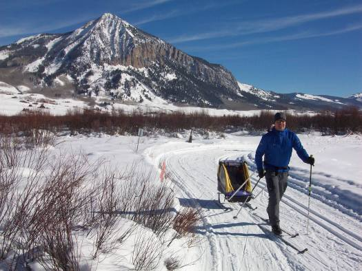 The butte of Crested Butte from the cross country trails. Colorado resorts' downhill ski visits down again in 2017-18