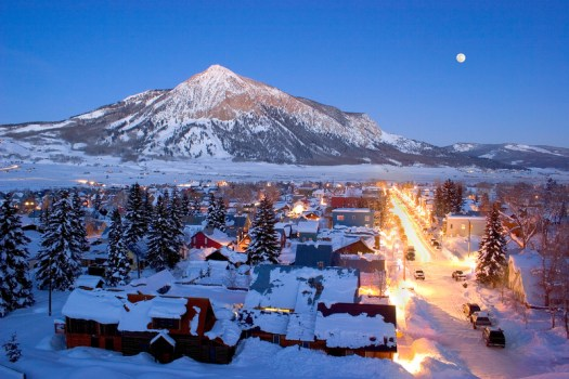 Crested Butte viewed from town- Photo b JC Leacock - Crested Butte Mountain Resort.