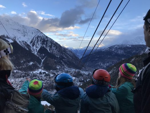Waiting for the funicular to go down into Courmayeur- Courmayeur Mont Blanc- Picture perfect Courmayeur. Photo by The-Ski-Guru
