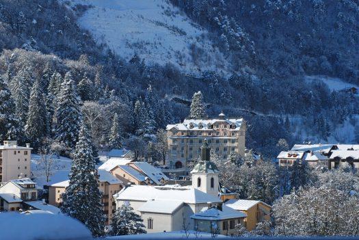 Close-up of the centre-ville of Brides-les-Bains. Photo courtesy of Brides-les-Bains Tourism Office.