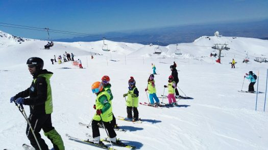 Sierra Nevada has 70 km of open pistes until the end of this ski season. Borreguiles area.