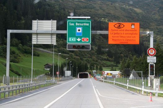San Bernardino tunnel at the east of Switzerland was closed due to a fire, which brought massive queues at the Gotthard tunnel this past weekend. GOTTHARD TAILBACKS: Alpine tunnel closure causes major holiday traffic disruption.