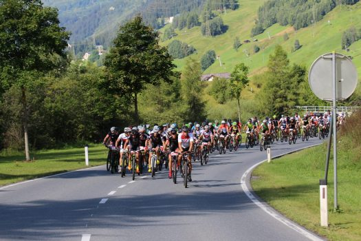"Every year in August, the ""Arlberg Bike Marathon"" in St. Anton decides at the same time on the winner of the alpine triathlon ""Arlberg Adler"" Picture credits: TVB St. Anton am Arlberg"