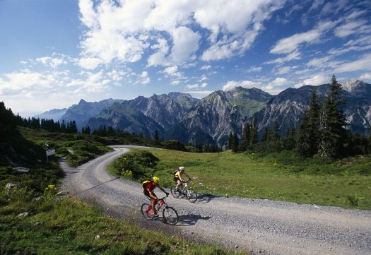 Bikers will find trails of all levels around St. Anton am Arlberg Photo credit: Wolfgang Ehn