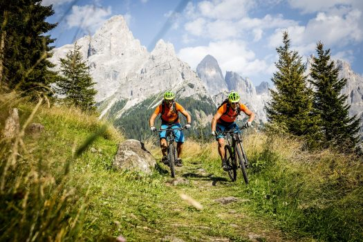 San Martino di Castrozza - Passo Rolle - Tognola - San Martino Bike Arena. Fototeca Trentino Sviluppo S.p.A. - FOTO DI Roberto Bragotto. Trentino has 8,000 kilometres of biking trails plus eight downhill biking parks.