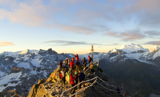 The sun comes out at Mont Fort. Photo Catherine Antonin. Verbier Promotion.