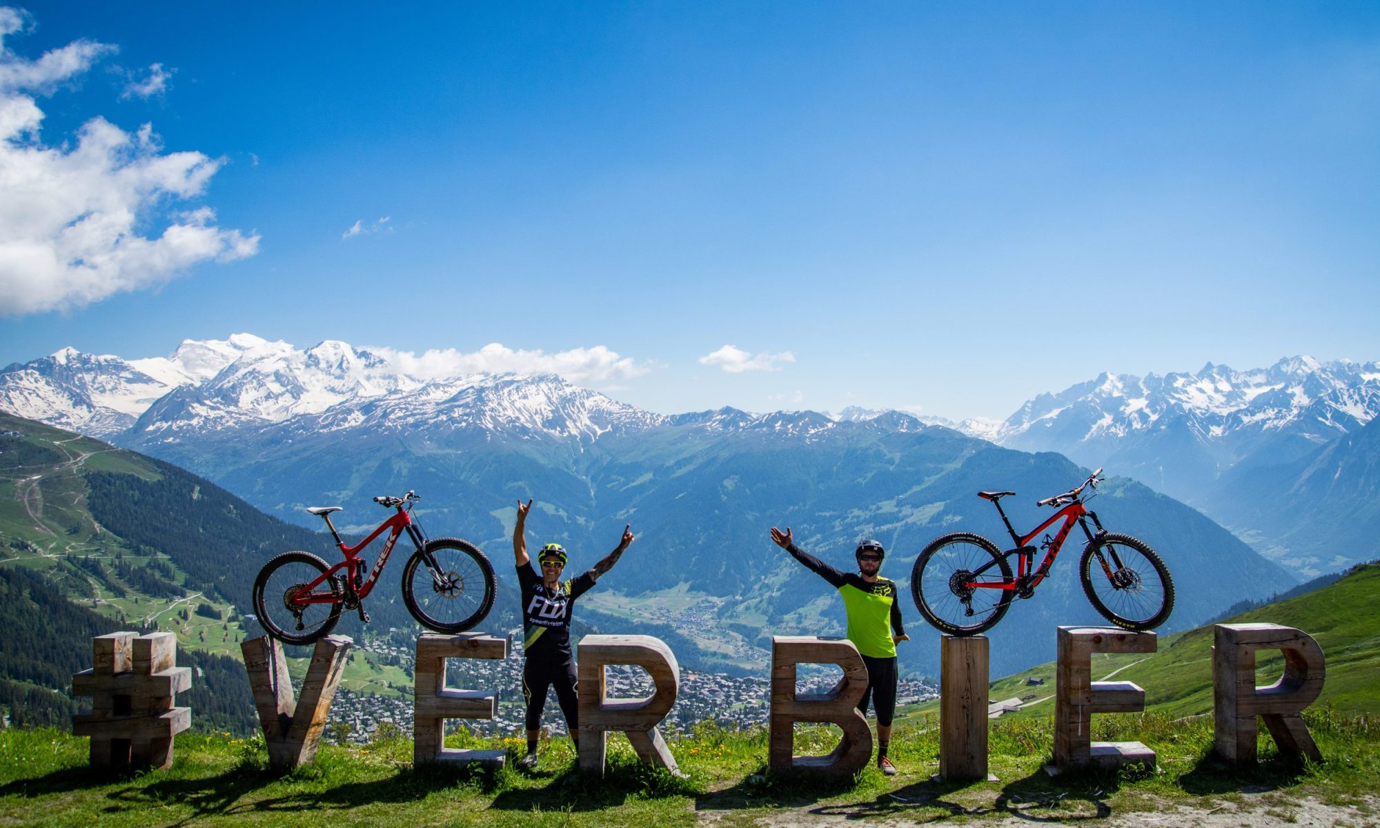 The Verbier Bike Park and its trails of VTT and Downhill. Photographer: KifCat. Verbier Promotion.