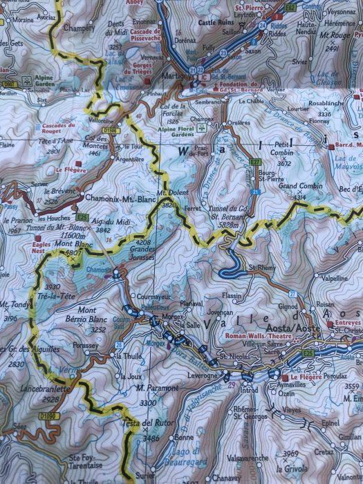 Getting to Chamonix and then to Courmayeur - all planned by looking at a map. Photo: The-Ski-Guru.