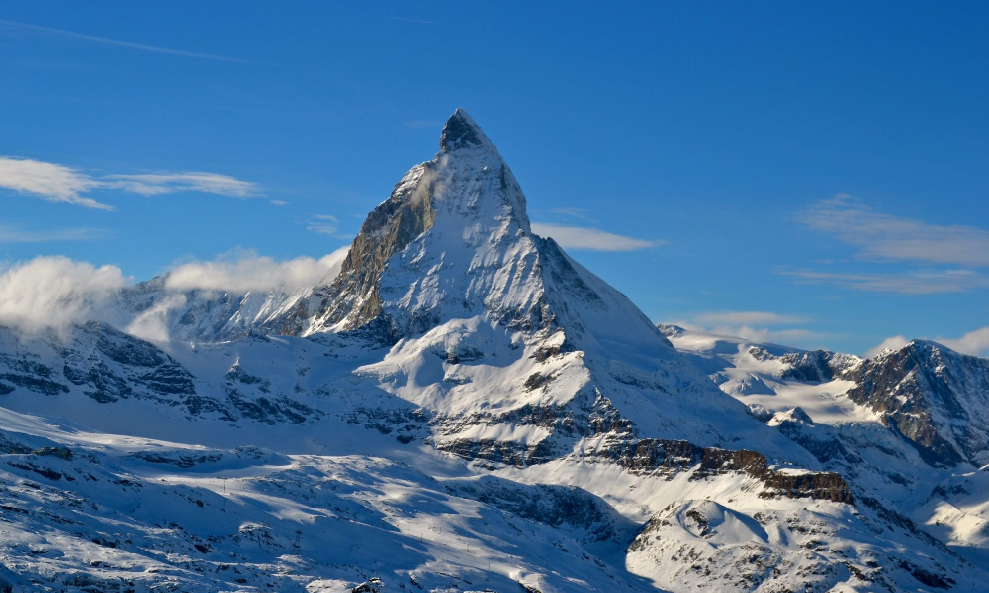 Monte Cervino/Matterhorn, where Henri Joseph Leonce Le Masne was recovered and finally identified thanks to Facebook.