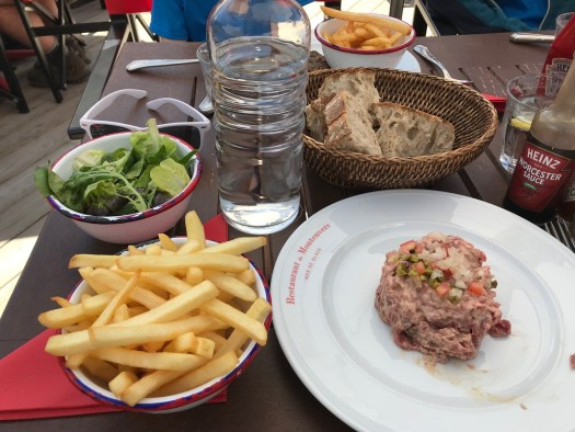 My food at the Terminal Neige-Refuge, delicious!