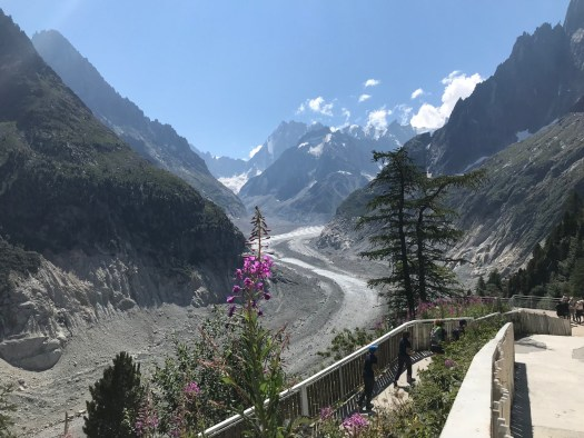 The Mer de Glace as seen at the arrival station at Montenvers. Photo: The-Ski-Guru.