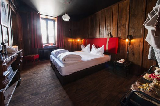 Room at the Terminal Neige-Refuge in Montenvers- lovely big rooms with wood-clad walls and everything to make your stay comfortable. Photo Sophie Molest iDavid Andre. The Must-Read Guide to Chamonix
