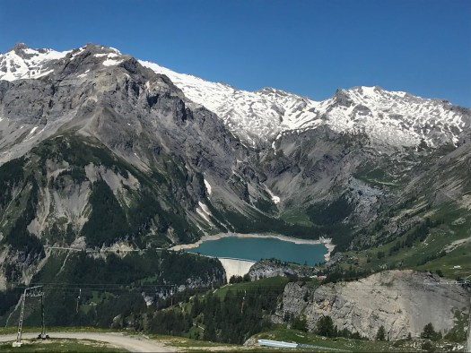Top of Cry d'Er Gondola and lake during summer visit. Photo credit: The-Ski-Guru.