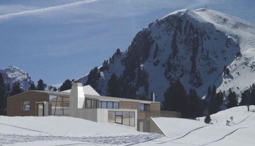 Dolomiti Superski- Val di Fiemme new rifugio Busabella in Alpe Cermis- Rendering credit: Dolomiti Superski.