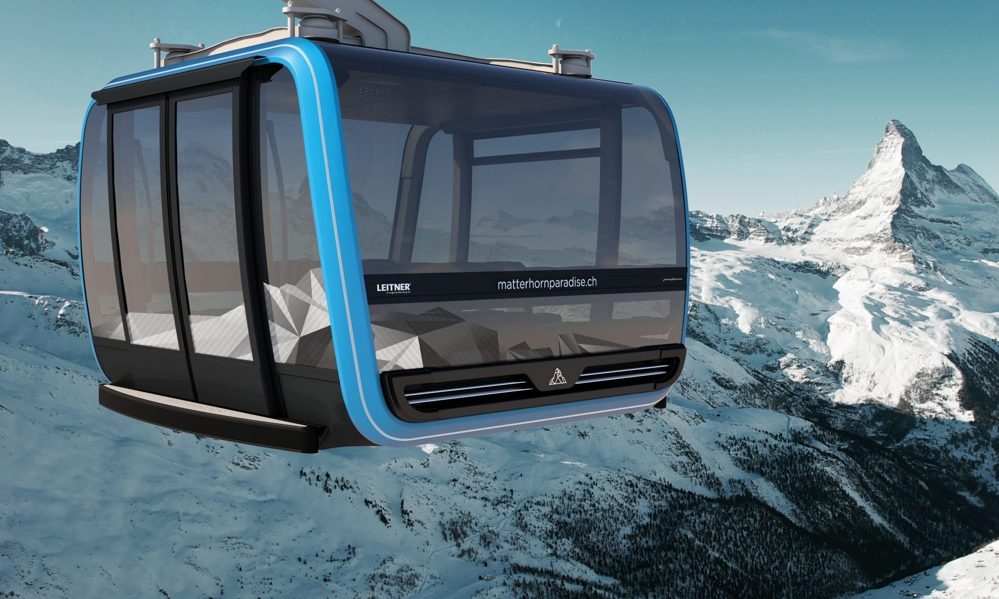 The Matterhorn Glacier Ride. German innovation award for Zermatt 3s cabins.