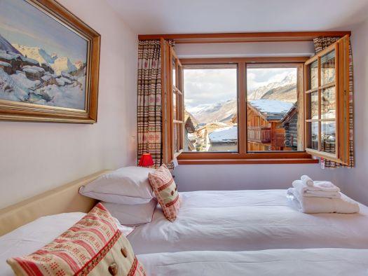 Room at the Chalet Ulysse. Matterhorn Chalets.