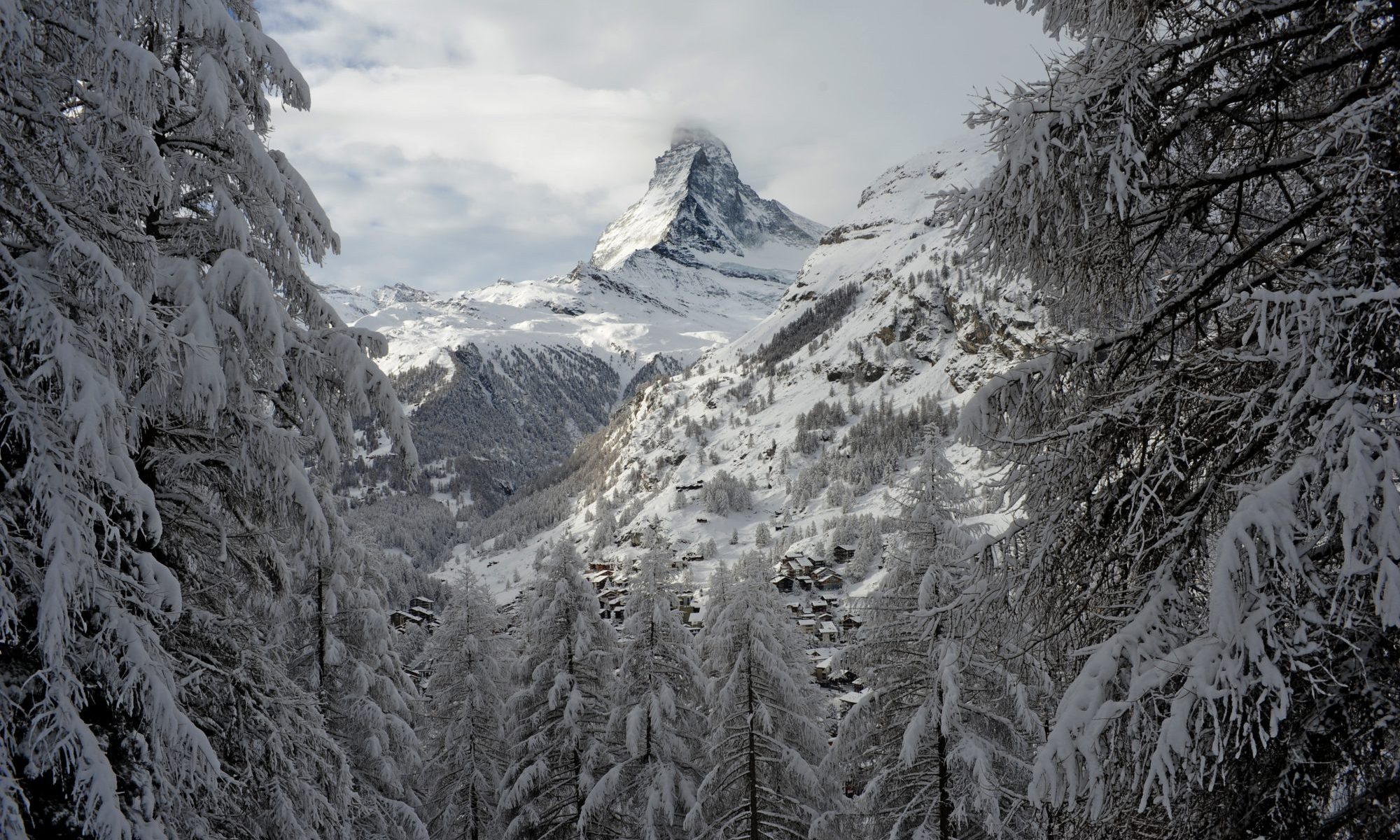 Matterhorn, the classic view from picture-perfect Zermatt. Photo: Kurt Müller. Zermatt to try recycled plastic 'green' road re-surfacing project.