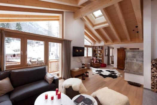 Open area at the Chalet Banja. Matterhorn Chalets.