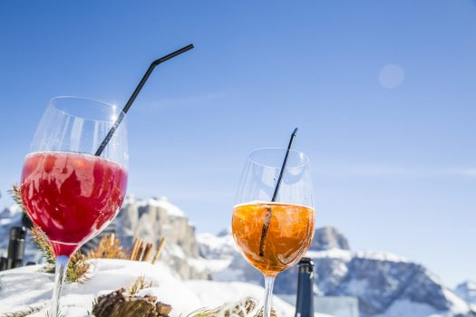 There is always time for aperitivo at Val di Fassa. Photo: Federico Modica. APT Val di Fassa. Val di Fassa is ready and opening on 6th December.