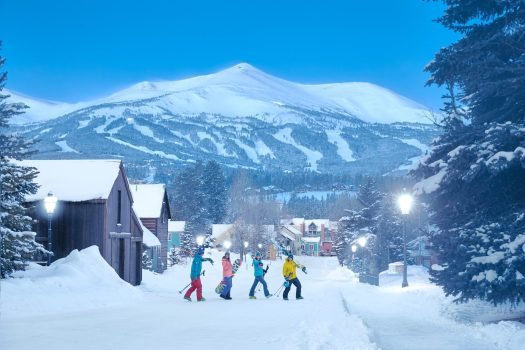 Breckenridge, one of the main resorts on the I-70 from Denver, favourite with the Brits. Photo: Andrew Maguire. Vail Resorts. Epic Pass expands European Access in World-Class Resort in France and Italy: Les 3 Vallées in France and Skirama Dolomiti Adamello Brenta in Italy.