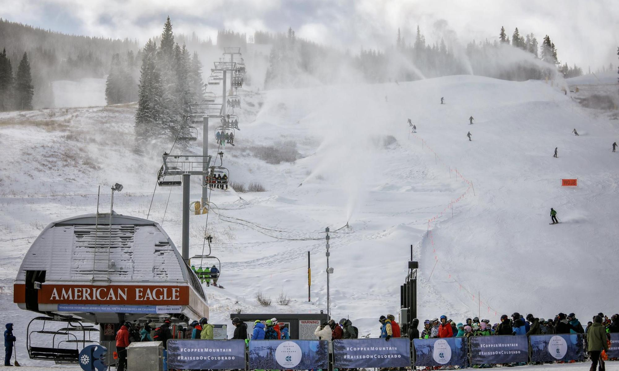 Copper Mountain photo. A new Leitner-Poma empty gondola cabin from Copper Mountain Crashes to the Ground.