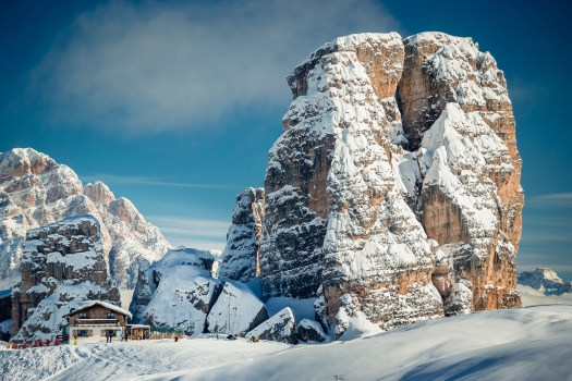 The famous 5 Torri in Cortina. Photo: www.bandion.it- Cortina Marketing. Cortina D'Ampezzo is gearing up for a great winter season and the 2021 Ski World Championships.
