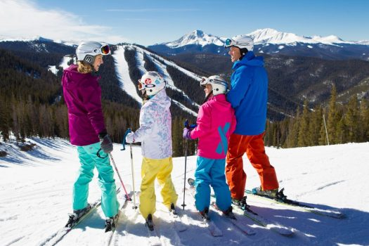 In Keystone, CO, families enjoy skiing together. Photo: Vail Resorts. JMA.Vail Resorts Commits to $175 Million to $180 Million in Capital Investments to Reimagine the Guest Experience for the 2019-20 Season.