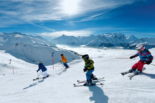 Switzerland. get natural. Skiing fun for the whole family in the ski resort of Meiringen-Hasliberg in the Bernese Oberland. Above the sea of fog in brilliant winter sunshine, the area provides an opportunity for various winter sports activities. Switzerland is giving away 12,770 ski passes for kids. Copyright by: Switzerland Tourism - By-Line: swiss-image.ch/Christian Perret
