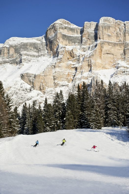 There's nothing like a downhill run through fresh snow from Monte Croce in Alta Badia, beneath the rock faces of the Pale Mountains. Season Opening's at the different ski resorts of Sudtirol and Christmas Markets.