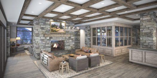 Snowpine Lodge Lobby Final Render. Credit: Snowpine Lodge. Snowpine Lodge Set to Open January 30, 2019.