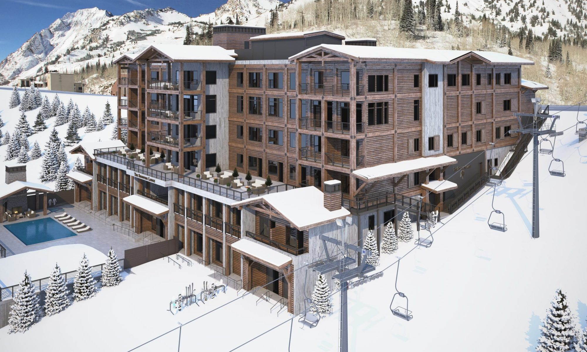 Snowpine Lodge Final Render. Credit: Snowpine Lodge. Snowpine Lodge Set to Open January 30, 2019.