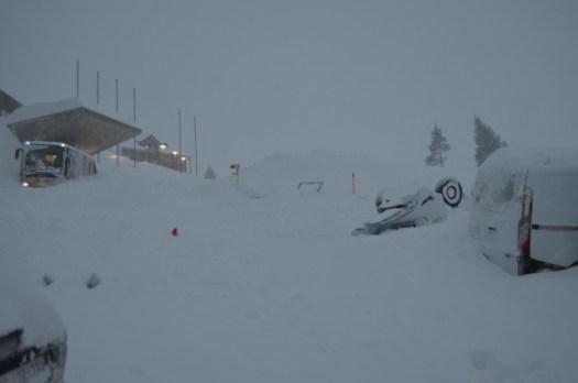 Avalanche crashes into hotel in eastern Switzerland.