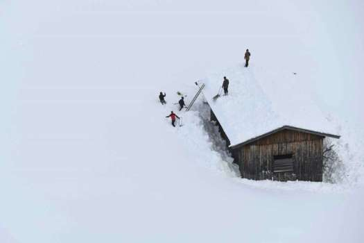 Salzburg - Austria. Jan 11. Two ski patrollers died in Morillon setting avalanche control charges.