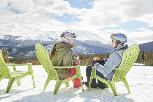 Never Nesters drink at apres in Breckenridge, CO. Photo Andrew Maguire. Vail Resorts. Breckenridge Ski Resort Announces Plans to Regularly Extend Winter Seasons through Memorial Day, Beginning this Spring.