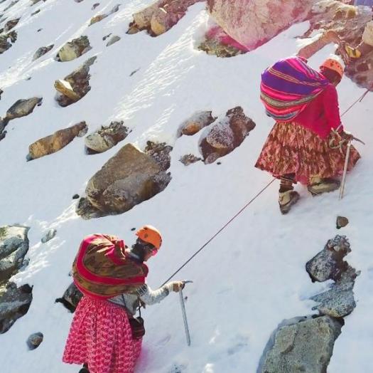 """The """"Cholitas Escaladoras"""" (Climbing 'Cholitas') are going for Everest. Facebook page photo."""